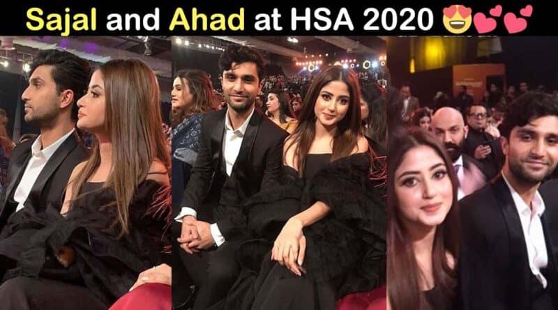 sajal ali and ahad raza mir at hum style award 2020