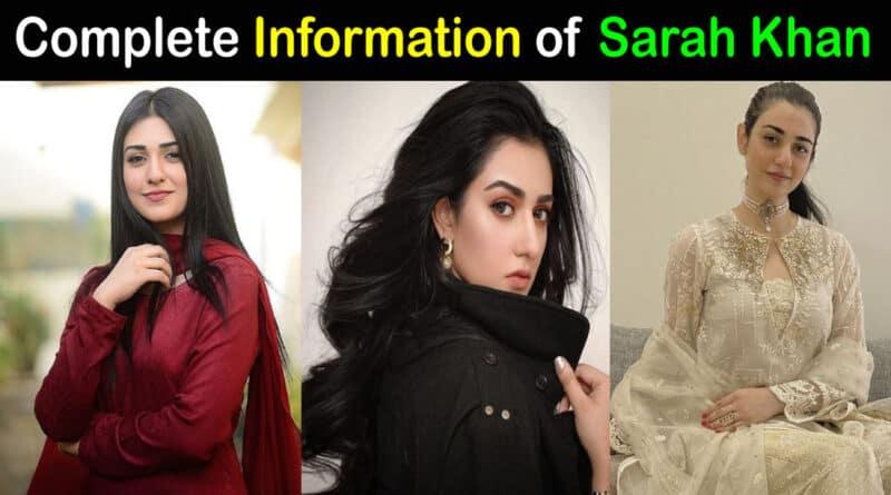 sarah khan biography