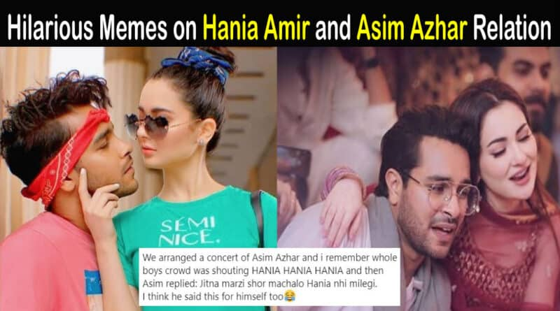 hania amir and asim azhar relation