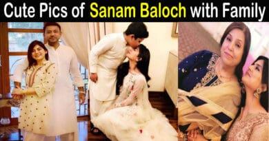 Sanam Baloch Family