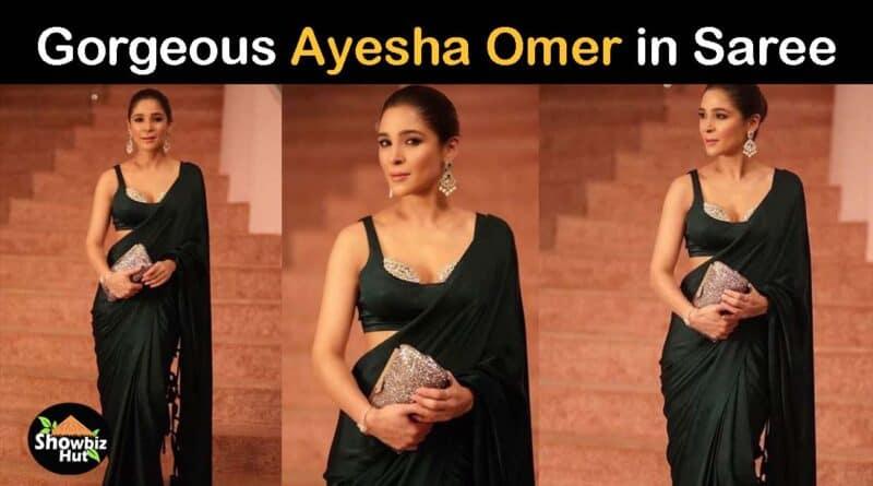 ayesha omer in saree