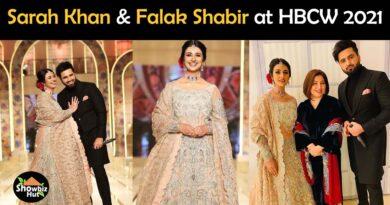 Sarah and Falak at Hum Bridal Couture Week 2021