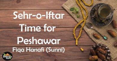 peshawar sahri iftar time 2021 sunni