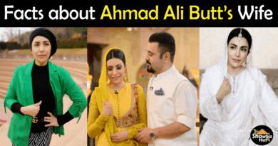 Ahmad Ali Butt Wife Biography
