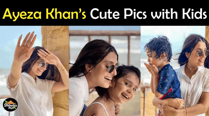Ayeza Khan Son Daughter Pics