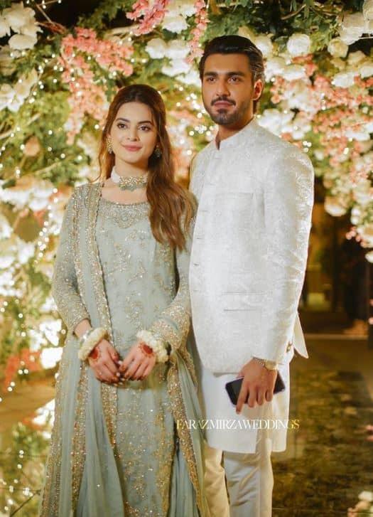 minal khan engagement dress