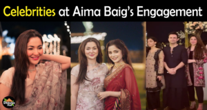 Celebrities Pictures from Aima Baig & Shahbaz Shigri Engagement