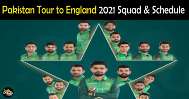Pakistan vs England 2021 Squad