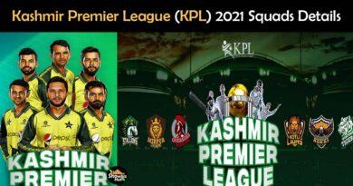 kashmir Premier League 2021 squads teams