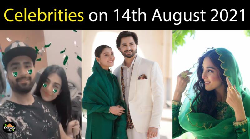 Pakistani Celebrities on 14 August 2021