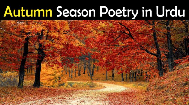 Autumn poetry in urdu