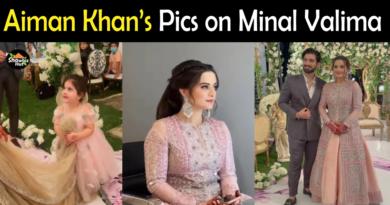Aiman Khan pics on Minal Walima