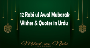 12 Rabi ul Awal Quotes, Wishes in Urdu 2021, Staus & Captions