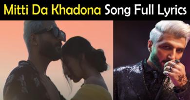 Mitti Da Khadona Bilal Saeed Lyrics